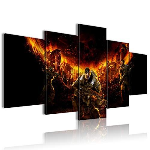 Póster de película de 5 piezas Gears Of War Halloween 100x50 enmarcado