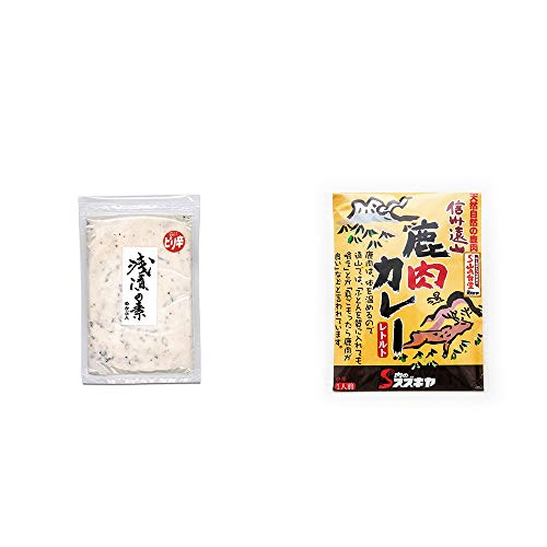 [2点セット] 浅漬けの素[小](150g)・信州遠山 鹿肉カレー 中辛 (1食分)