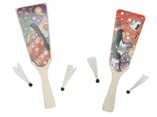 池田工業社 ものがたり羽子板2枚組セット かぐや姫 鶴の恩返し