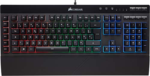 Corsair K55 Clavier Gaming (Rétro-Éclairage RGB Multicolore, AZERTY) No