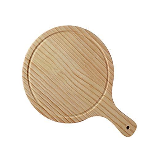 Planche à découper à palette de spatule de qualité supérieure, assiette à pizza, double face utilisable, conception de prévention des éviers de débordement, couleur du bois, pour restaurant de cuisine