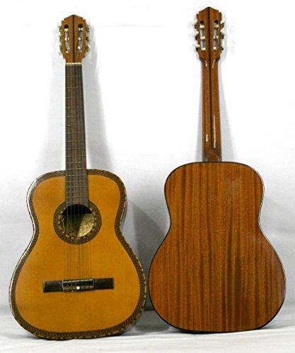 Musikalia Guitarra Classic Mod. Figaro con Ricco mosaico Alla Tabla armónica Ed Alla Buca, Vintage, de liuteria–Hecha Entre El 1970y el 1990