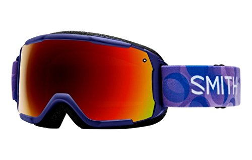 Smith Optics Grom Youth Junior Snowmobile Goggles Ultraviolet Dollop/Red sol-x Mirror