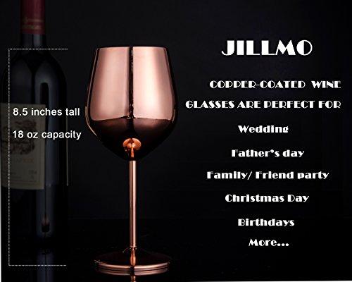 Stainless Steel Stemmed Wine Glasses - 18 oz Shatter Proof
