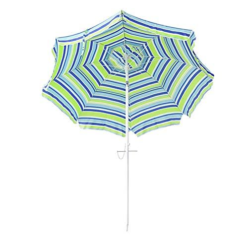 HQ2 Sombrilla portátil, sombrillas de Playa Redonda, Productos para Exteriores de Verano, fácil de Usar, función antiultravioleta, comúnmente Utilizado en jardín, Playa, Patio, Pesca Esencial