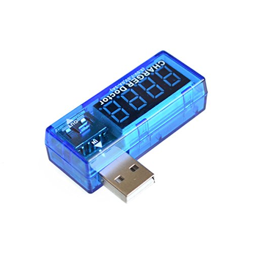 Read About Digital USB Mobile Power Charging Current Voltage Tester Meter Mini USB Charger Doctor Vo...