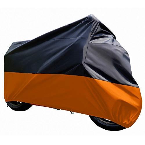FYZS Polyester Wasserdichten Schutz-Fall-Abdeckung for Moto XXL-3XL Motorräder Abdeckungen Moto Kuvertüre Regen UV Staub Prävention (Size : XXXL 295x110x140 cm)