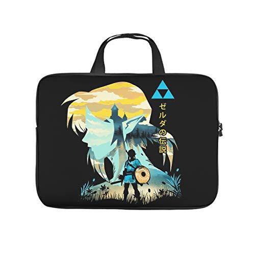 Zelda Laptop Sleeve Case Protective Bag Water Resistant Durable Office Bag for for Men Women Boys Girls White 17 Zoll