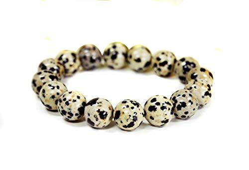 Armband aus Dalmatiner Jaspis in Kugelform