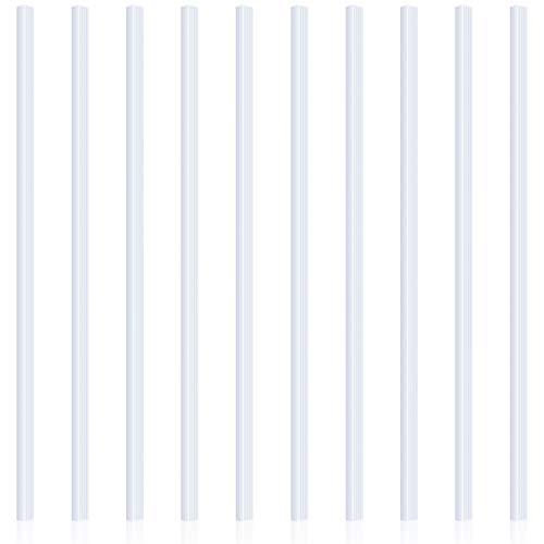 10 Piezas Lomeras Deslizantes de Encuadernación Barras de Carpeta A4 para Escuela y Oficina, 12 Pulgadas, 40 Hojas Capacidad (Blanco)
