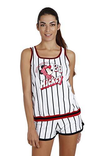 Disney Pijama Tirantes Mickey Beisbol para Mujer