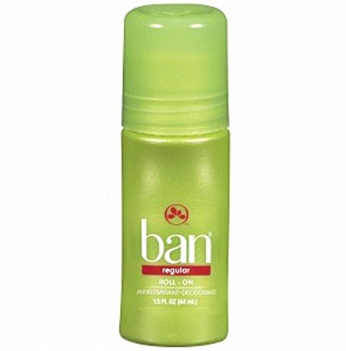 Ban Original Roll-On Antiperspirant and Deodorant, Regular 1.5 oz (Pack of 4)