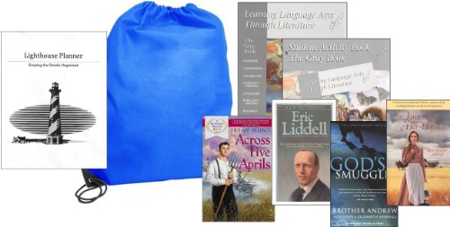 Learning Language Arts Through Literature Gray (Grade 8) Complete Set Homeschool Kit in a Bag