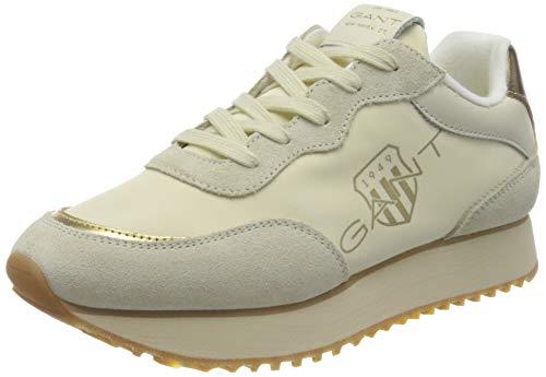 Gant Bevinda, Zapatillas Mujer, Crema/Oro, 40 EU