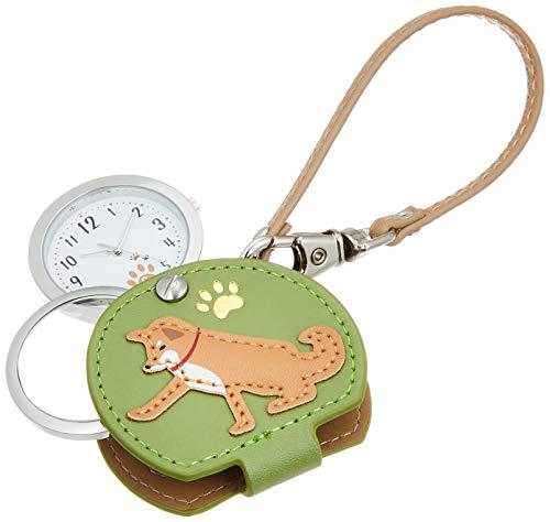 [フィールドワーク] 懐中時計 アナログ しばいぬ バッグチャーム 時計 ルーペ 付き LW054-1 レディース ベージュ