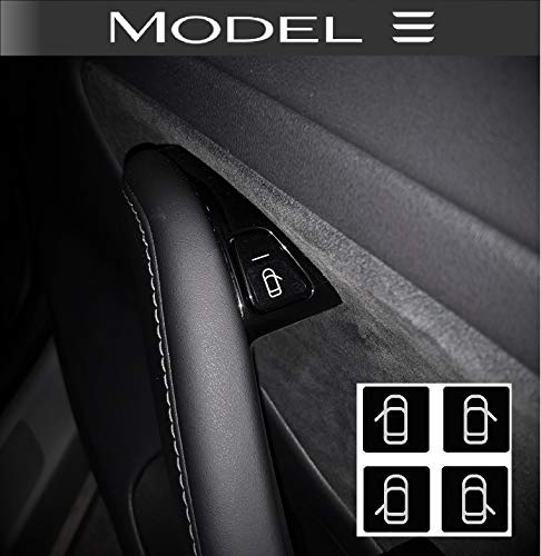 50/5000 Tesla Model 3 Türknopf-Icon-Aufkleber (8er-Set)