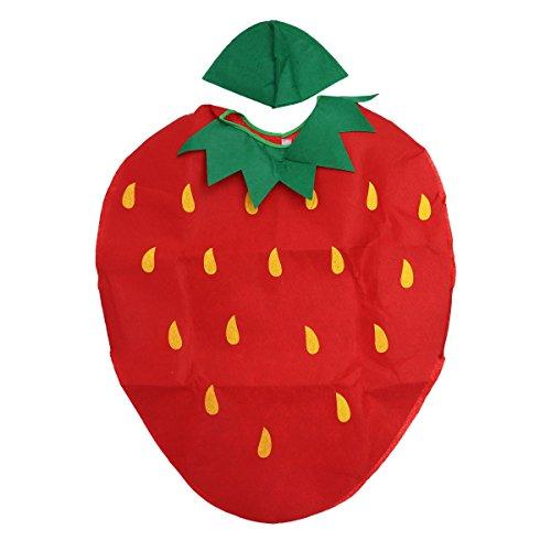 LUOEM Disfraz de Vegetales de Frutas para Niños Disfraz de Niños Ropa de Fiesta de Fresas Disfraces para Halloween Cosplay Vacaciones de Navidad - Disfraces de Halloween