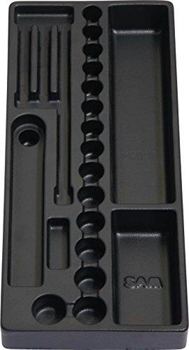 SAM Outillage MOD-16 Module vide pour douilles et accessoires 3/8, Noir