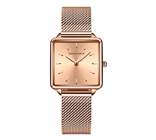 Reloj de pulsera de las mujeres Japón modelo oro rosa simple moda casual marca reloj de lujo señora cuadrado relojes Relogio feminino