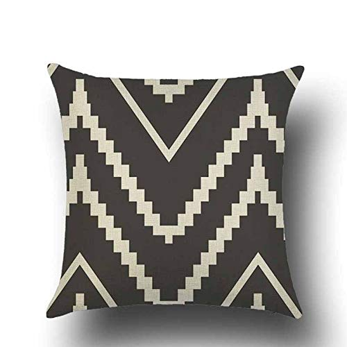 yxr Nordic Black And White Geometric Linen Pillowcase Classic Triangle Sofa Cushion