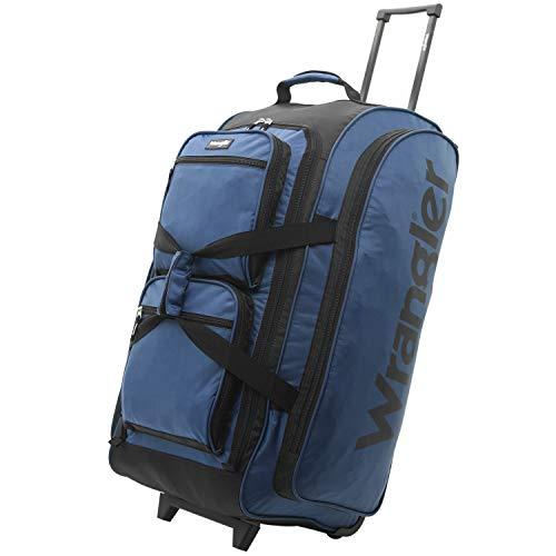 Wrangler Wesley Rolling Duffel Bag, Navy Blue, Large 30-Inch