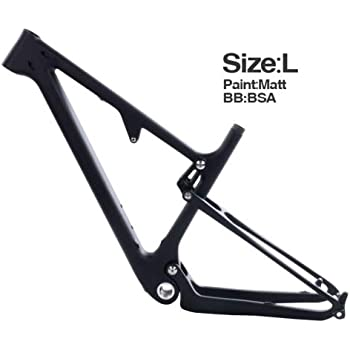Amortiguador trasero 29er UD carbon MTB BSA 165 * 38mm * 22mm cuadro de bicicleta de montaña L: Amazon.es: Bricolaje y herramientas