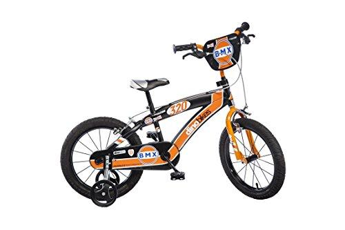 Dino Bikes- BMX da ragazzo, marca Dinobikes 16 pollici da 5 a 8 anni, 165XC, colore: Nero