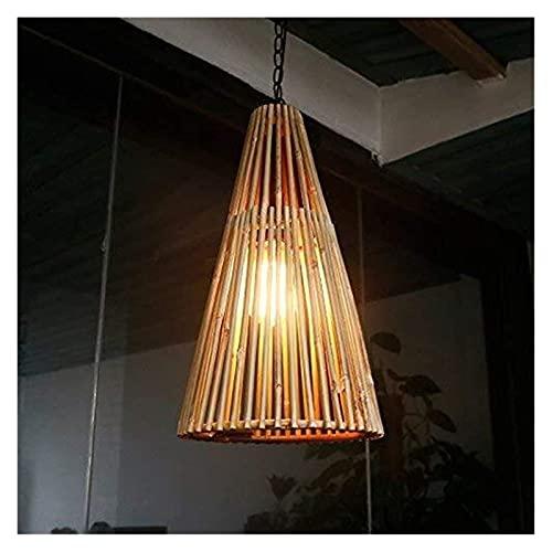 LLLKKK Lámpara de techo de bambú natural del sureste asiático para pared, Sconce/Cafe Bar/Farm/Patio Apliques de pared/Lámparas de bambú (color: original) (color: original)
