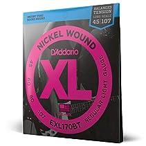 D'Addario EXL170BT E-Bass Saiten Satz Bass 045 - 107 Balanced Tension