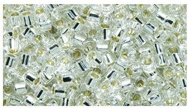Miyuki Delica Seed Bead 10/0 DBM0041, Silverlined Crystal, 9-Gram/Pack