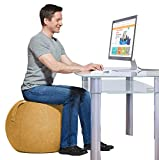Yogibo YogaBo Ergonomic Balance Ball Chair for Home Desk, Exercise Yoga Office Seat with Built in Base for Stability, Orange