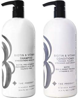 Biotin Vitamin Hair Growth Shampoo & Conditioner SET-(High Potency) Biotin Shampoo + Conditioner Set For Fastest Hair Grow...
