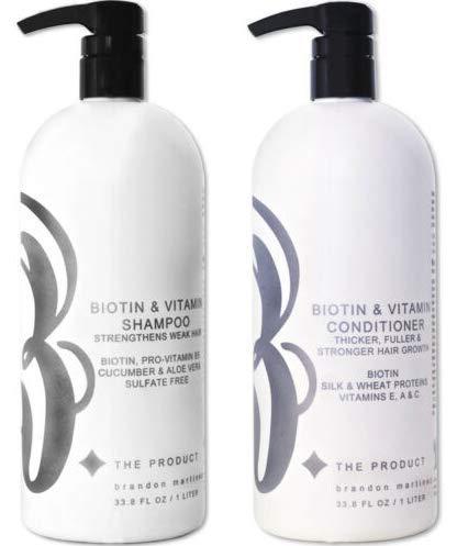 Biotine Vitamine Haargroei Shampoo & Conditioner SET- (Hoge potentie) Biotine Shampoo + Conditioner Set voor de snelste haargroei, Vitaminen E, A en B HET PRODUCT 33.5oz