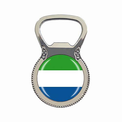 Sierra Leone Flagge Bierflaschenöffner Kühlschrank Magnet Metall Glas Kristall Reise Souvenir Geschenk Heimdekoration