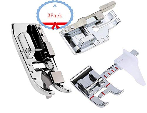 Pack of Adjustable Guide Sewing Machine Presser Foot,1/4''Quilting Patchwork Foot and Stitch in Ditch Foot.Fits for Low Shank Domestic Sewing Machine. Snapping On Brother, Babylock, Singer