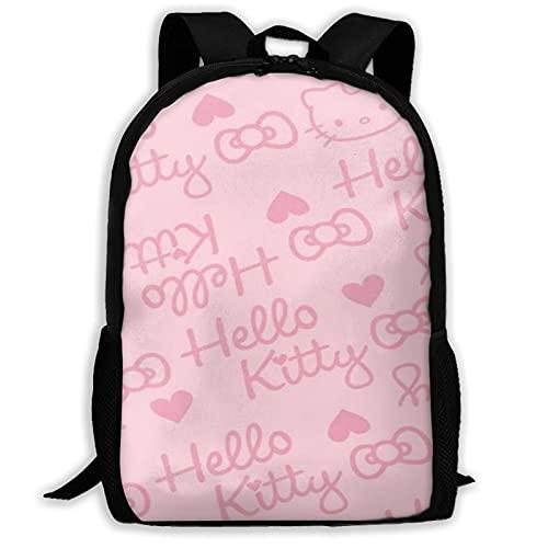 Pink Hello Kitty (4) Bolsas escolares Senderismo Mochila escolar Mochila Mujeres Hombres