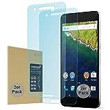 doupi 2X Panzerfolie für Huawei Nexus 6P, Premium 9H Hartglas HD Bildschirm Schutz Glasfolie (2er Pack)