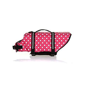 La Vie de Chien Veste Gilet de sécurité Pet supplémentaire Couleur Rose Dot (Size : XXL)