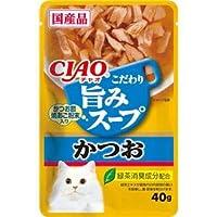 (まとめ)CIAO 旨みスープパウチ かつお 40g (ペット用品・猫フード)【×96セット】 〈簡易梱包