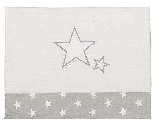 Happy Way Parure de lit pour berceau Motif étoiles Gris