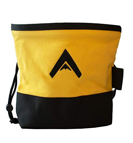Atacama Chalk Bag | robuster Magnesiumbeutel z. Bouldern u. Klettern | Kalktasche f. Crossfit | großer Magnesiabeutel a. Canvas | staubdichter Kreidebeutel | Fleece Innenfutter