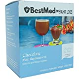 BestMed | Protein Shake/Pudding Powder for Weight Loss Support, Diet Meal Replacement Shake for Women and Men, Low Carb, Low Fat, Low Calorie, Low Sugar (Chocolate)