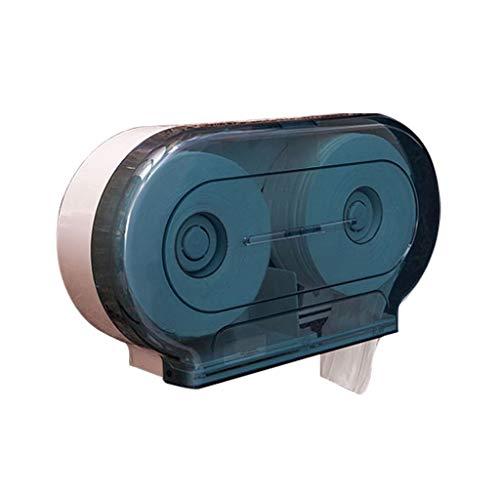LXESWM Toiletpapierhouder Kunststof Wandsteun Wc-rolhouder Tissue-houder Dubbele Jumbo Rolls Papier Dispenser Voor Badkamer Toilet Kantoorgebouw