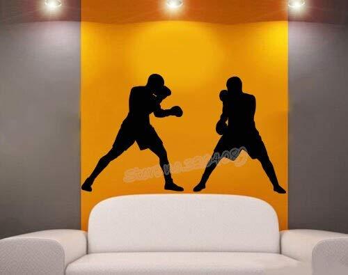 BailongXiao Sportkämpfer Taekwondo Boy Wandtattoo Taekwondo Karate Kampfkunst Boxen Sparring Aufkleber Sport Gym Schlafsaal Kunst Wandbild