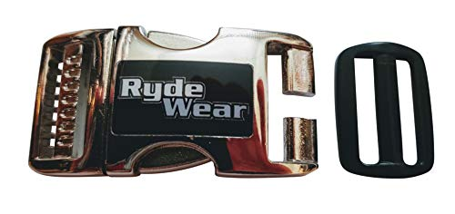 Chrome Metal RydeWear Motorcycle Dirt Bike RZR ATV Helmet Quick Release Helmets Chin Strap Buckle