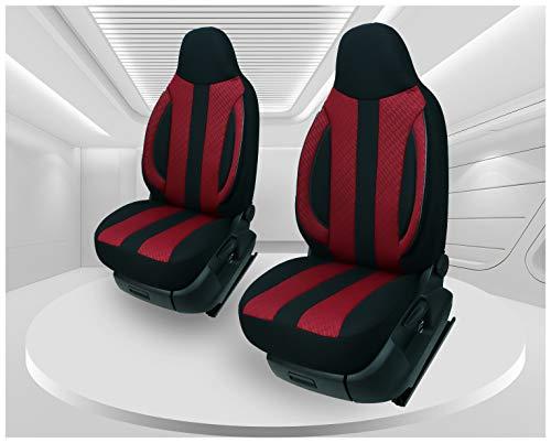 Fundas de asiento compatibles con Volkswagen Caddy, conductor y copiloto, a partir de 2010 – 2015, número de color: MD505.