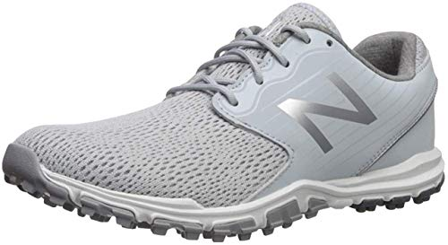 New Balance Women's Minimus SL Breathable Spikeless Comfort Golf Shoe, Light Grey, 9.5 M