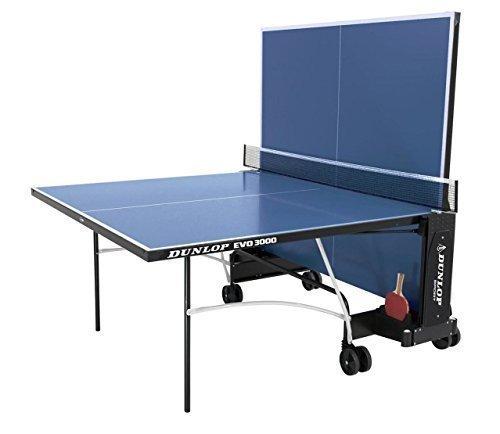 Dunlop Evo 3000 Ping-Pong-Spiel faltbar Weel Away Outdoor Tischtennis-Tisch