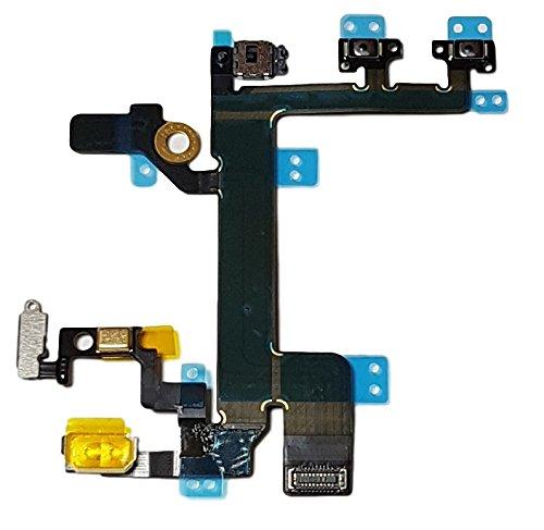Smartex Powerflex Kable Ersatzteil kompatibel mit iPhone 5S – Integrierten Konnektoren für EIN Aus Schalter, Volume, Mute, Lichtsensor, Proximity Sensor