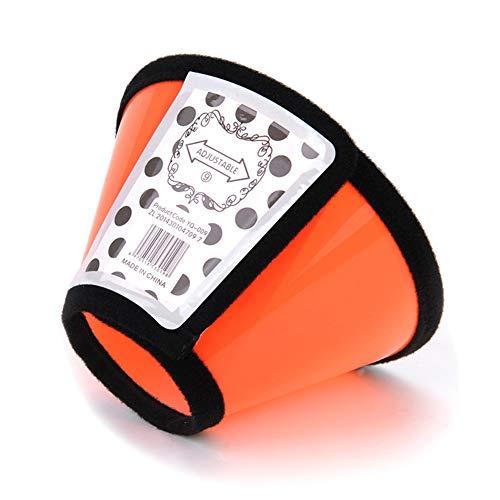 TXDIRECT Collare Elisabettiano Gatto Collare Elisabettiano Cane Collare elisabettiano per Cani Cono in plastica per Collare per Cani Cono di Collare di Gatto Orange,1